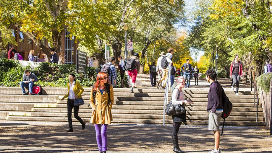 students at an Australian university