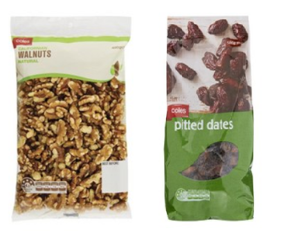 dates and walnuts from coles