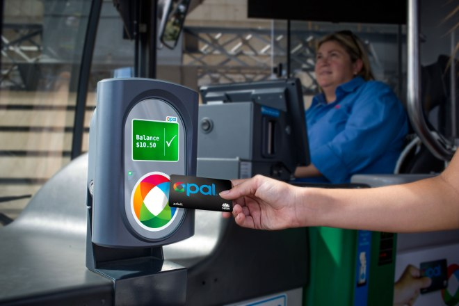 Tapping-on an opal card